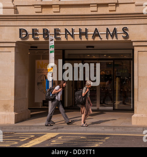 The Debenhams department shop store in Bath , Somerset , England , Britain , Uk - Stock Photo