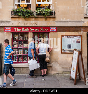 The Bath sweet shop store in Bath , Somerset , England , Britain , Uk - Stock Photo