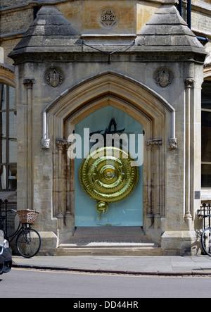 The Corpus Clock. Taylor Library, Corpus Christi College, University of Cambridge, Cambridgeshire, England, United - Stock Photo