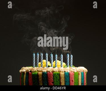 Birthday Cake Being Blown