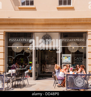 The Pizza Express restaurant in Bath , Somerset , England , Britain , Uk - Stock Photo