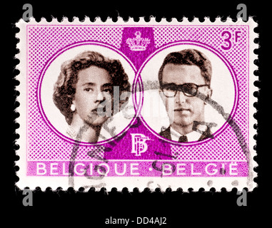 Postage stamp from Belgium issued for the wedding of King Baudouin and Queen Fabiola
