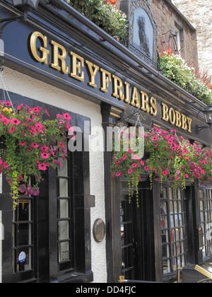 Greyfriars Bobby Bar or Pub, Candlemaker Row, Edinburgh, Scotland, UK - Stock Photo