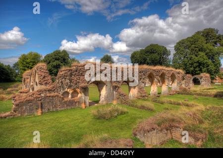 Hailes Cistercian Abbey, Cheltenham, Gloucestershire, England, GL54 5PB - Stock Photo