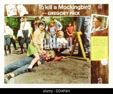 TO KILL A MOCKINGBIRD - Movie Poster - Directed by Robert Mulligan - Stock Photo