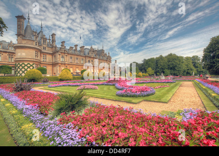 Panorama from Waddesdon Manor, Buckinghamshire, England - Stock Photo