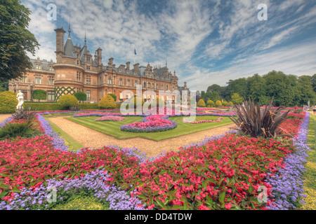 Panorama from Waddesdon Manor, Buckinghamshire, England - Stock Photo