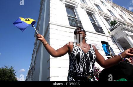 London, UK. 26th Aug, 2013. Notting Hill Carnival 2013 Credit:  Sebastian Remme/Alamy Live News - Stock Photo