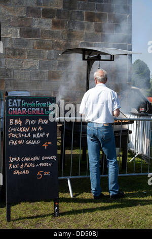 Stonyhurst College, Clitheroe, UK. 26th August, 2013. Caribbean food at the Great British Food Festival taking place - Stock Photo