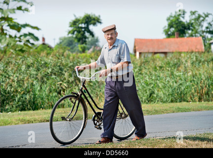 A Hungarian man in the town of Devavanya, Hungary (20 Aug 2013) - Stock Photo