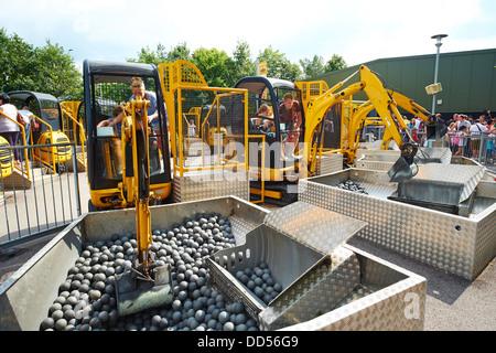 Digger Challenge Legoland Windsor UK - Stock Photo