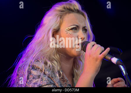 Portsmouth, UK. 25th Aug, 2013. Victorious Festival at Portsmouth Historic Dockyard.  Charlotte Church performing - Stock Photo