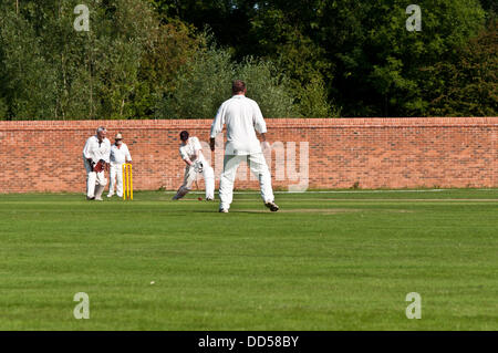 Attenborough Village Cricket Club, Nottinghamshire, UK, August 26th. Following the Opening of the Attenborough village - Stock Photo