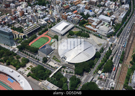 Tokyo Metropolitan Gymnasium: Tokyo, Japan: Aerial view of proposed venue for the 2020 Summer Olympic Games. (Photo - Stock Photo