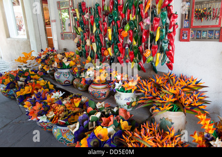 Marvelous From Above; Artificial Fruit And Vegetables On Sale Near The Palace Of The  Governors In Santa Fe,