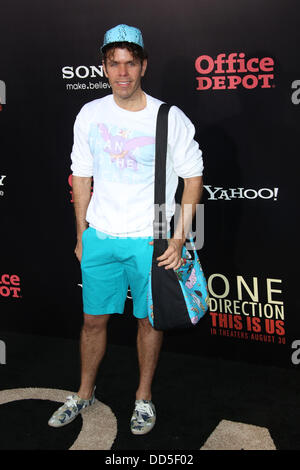 New York, USA. 26th Aug, 2013. Blogger Perez Hilton attends the premiere of the movie 'One Direction: This Is Us' - Stock Photo