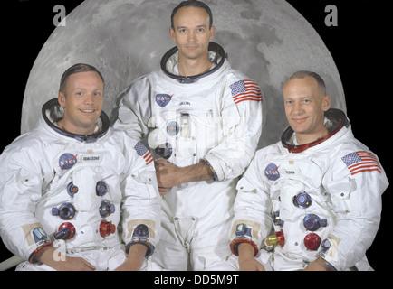 Apollo 11 Crew : Neil A. Armstrong, Michael Collins, Edwin E. Credit-NASA - Stock Photo