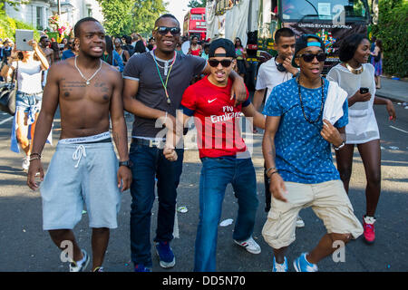 London, UK. 26th Aug, 2013. Notting Hill Carnival, London, UK,  26 August 2013. Credit:  Guy Bell/Alamy Live News - Stock Photo