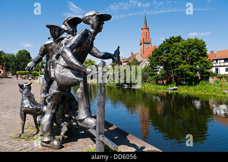 Sculpture 'Schleusenspucker', Rathenow, Germany
