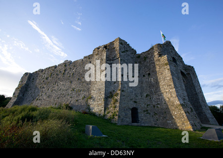 Oystermouth Castle, Swansea Bay - Stock Photo