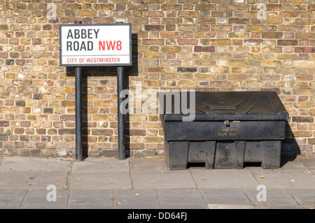Street Sign ABBEY Road in London - Stock Photo