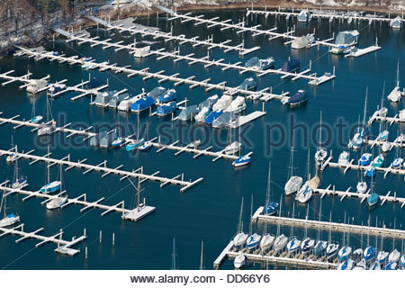 Germany, View of Marina at Langenargen - Stock Photo