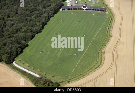 aerial view of a golf driving range near Strubby in Lincolnshire - Stock Photo