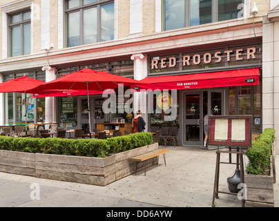 The Red Rooster restaurant in Harlem, New York City - Stock Photo