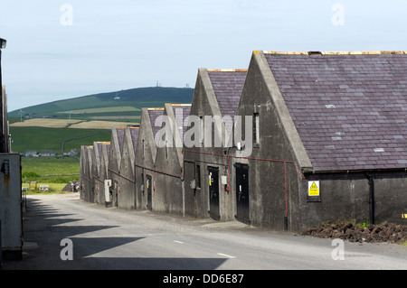 Bonded warehouses at the Highland Park Distillery, Kirkwall, Orkney - Stock Photo