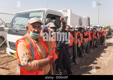 Domiz refugees camp, Duhok province, Northern Iraq. 27th Aug, 2013. Due to the low hygienic condition of the camp, - Stock Photo