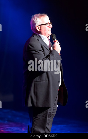 Christopher Biggins presenting a Charity Auction at An Evening with Chickenshed at ITV Studios, London, UK. - Stock Photo