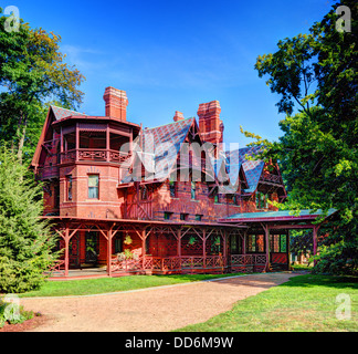 Mark Twain House in Hartford, Connecticut. - Stock Photo