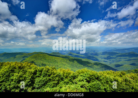 View of Appalachian mountains in north Georgia, USA. - Stock Photo