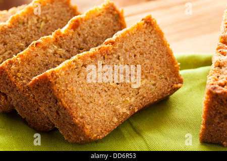 Homemade Healthy Zucchini Bread Ready to Eat - Stock Photo