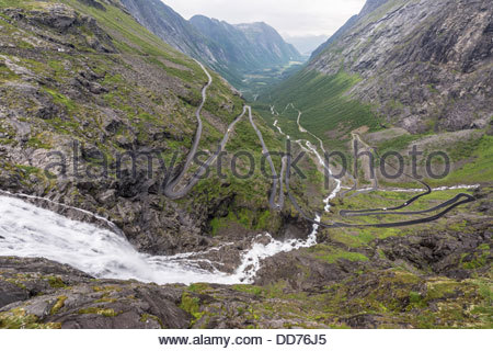 Norway, View of Trolls' Ladder - Stock Photo