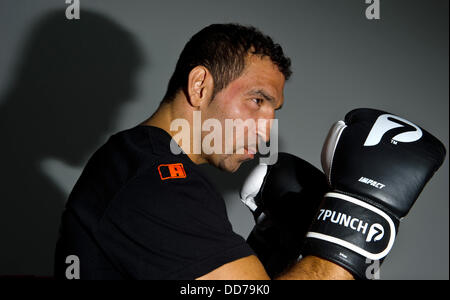 Professional boxer Firat Arslan is pictured on his training grounds in Donzdorf, Germany, 28 August 2013. On 14 - Stock Photo