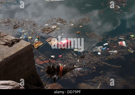 Garbage patch,r,'Great Pacific Garbage Patch, 'Eastern Garbage Patch' Rubbish discarded at sea and washed ashore,Marine - Stock Photo