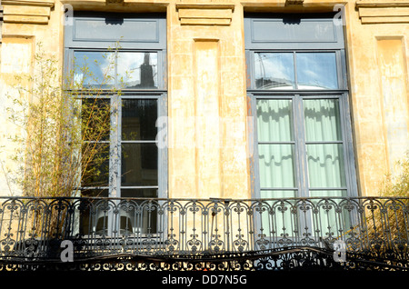 Windows and balcony, Lille, France - Stock Photo