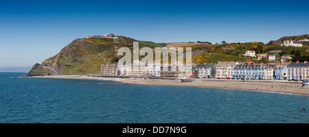 UK, Wales, Ceredigion, Aberystwyth, seafront, panoramic