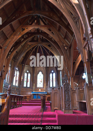 dh  WELLINGTON NEW ZEALAND Old St Pauls former cathedral Anglican church wooden interior - Stock Photo
