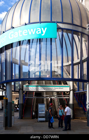 The entrance to Tower Gateway Station, London, England - Stock Photo