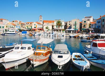 Vodice town in Croatia - Stock Photo