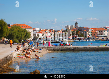 Vodice beach in Croatia - Stock Photo
