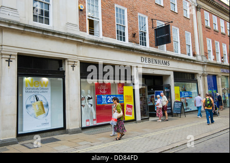 Exterior of DEBENHAMS department store in city centre of York North Yorkshire England UK - Stock Photo