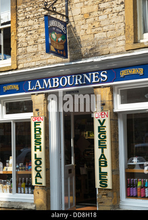 Lambournes family Greengrocers shop, Stow on the Wold, Cotswolds, Gloucestershire, England - Stock Photo