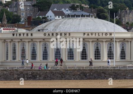 England Somerset, Weston-super-Mare, Winter Gardens Pavilion - Stock Photo