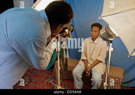 Photographer. Karima northern sudanese market town. Sudan. Africa - Stock Photo