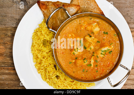 Chicken Korma a popular indian curry dish and favourite with people not keen on spicy food Stock Photo