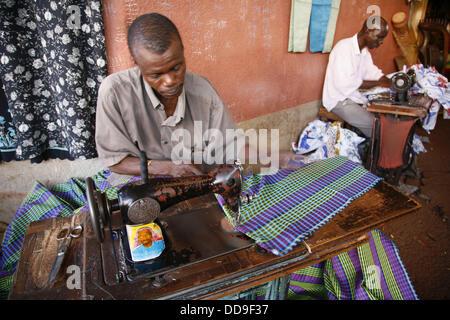 Tailors at market, Bobo Dioulasso. Burkina Faso - Stock Photo