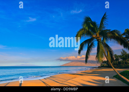 Sunrise at Kamaole Beach Park, Kihei, Maui, Hawaii - Stock Photo